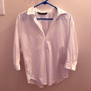 Loose white Zara shirt-blouse, Size Small